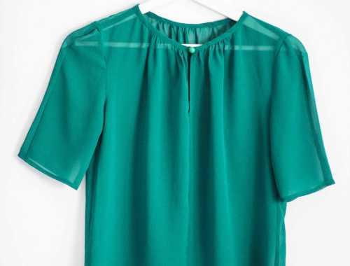 grüne Bluse aus Chiffon