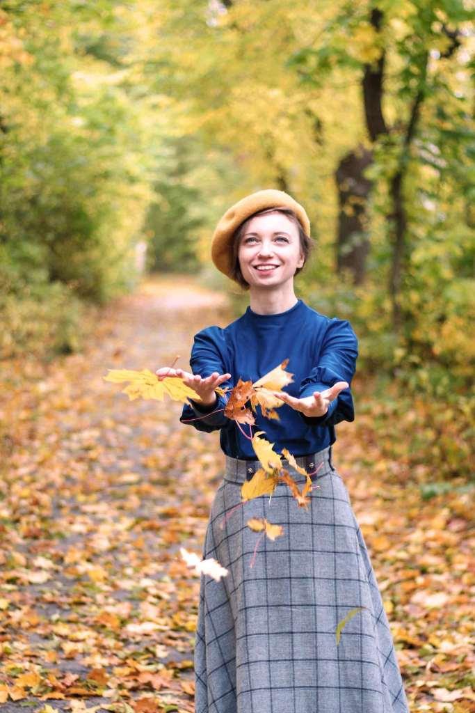 Herbstoutfit mit Burda Shirt
