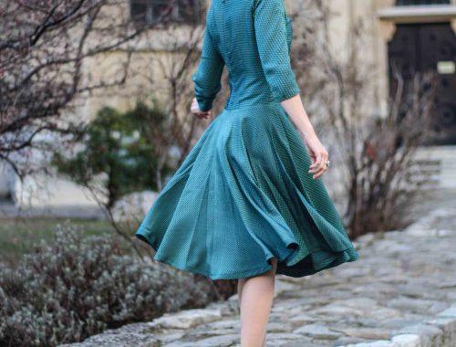 Vintage Kleid genäht nach einem Original Schnittmuster