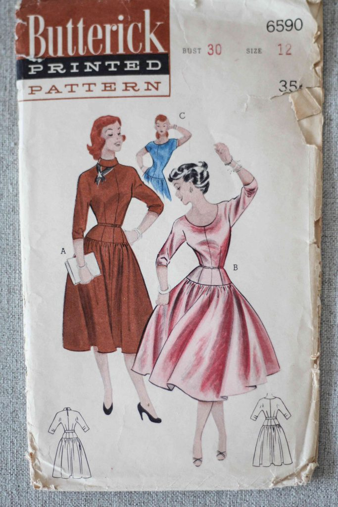 Original Vintage Butterick Schnittmuster