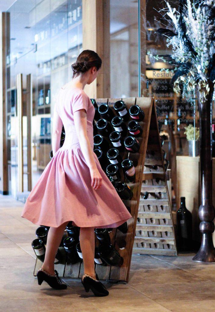 Vintage Kleid 50er Jahre weiter Rock Butterick