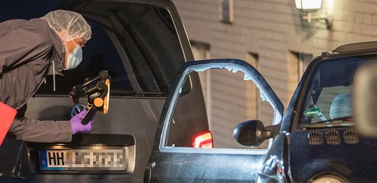 Schussabgabe durch Polizeibeamte auf mutmaßlichen Kfz-Aufbrecher in Hamburg-Wilhelmsburg