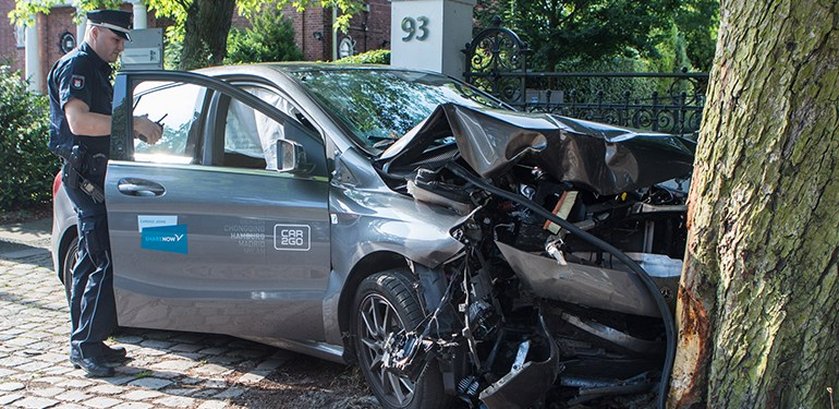 Car2Go-Unfall auf der Elbchaussee