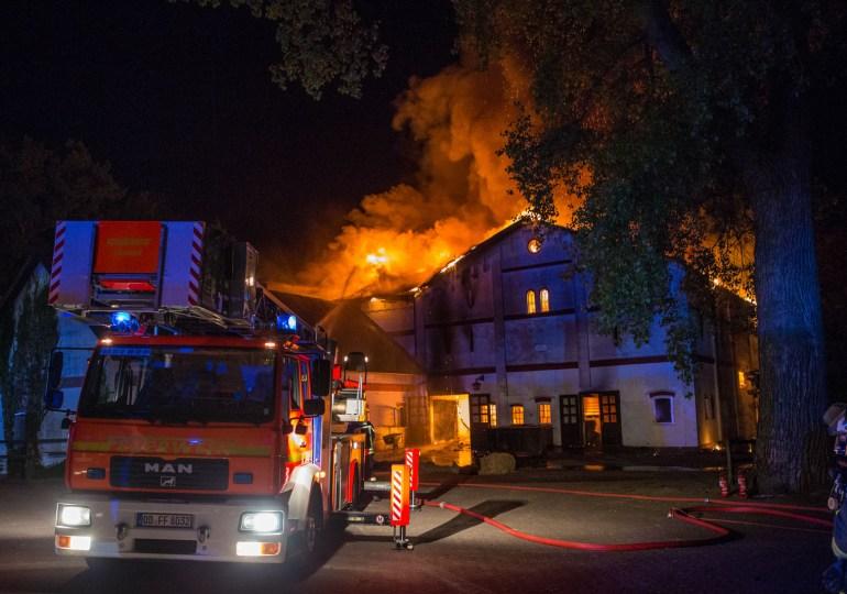 Großfeuer auf Gestüt Grönwohldhof der Familie von Allwörden