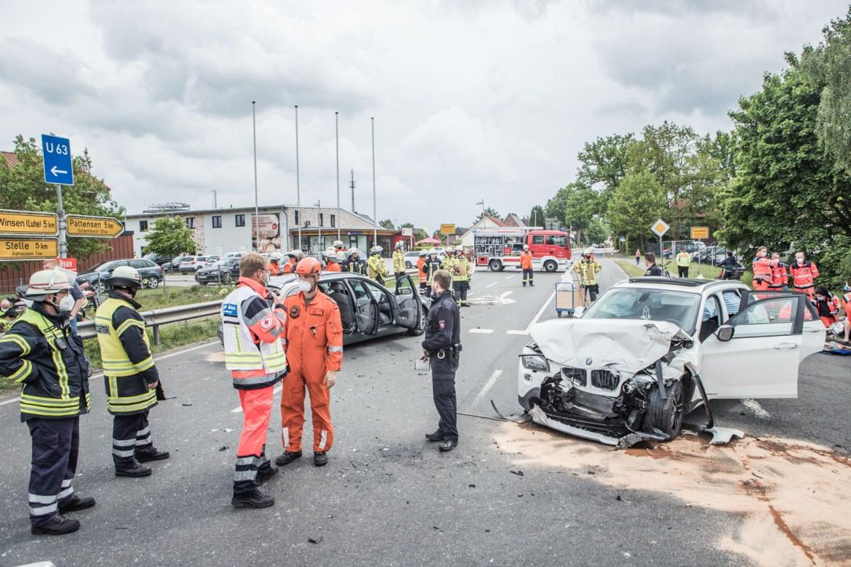 Schwerer Verkehrsunfall in Winsen (Luhe) – 7 Verletzte!