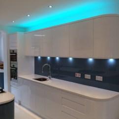German Made Kitchen Cabinets Delta Faucet Parts List Handleless White And Blue Bishops Stortford
