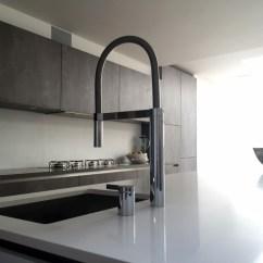 German Made Kitchen Cabinets Curtains Pinterest Concrete And Polar White - Streatham Hill | Blax Kitchens Ltd