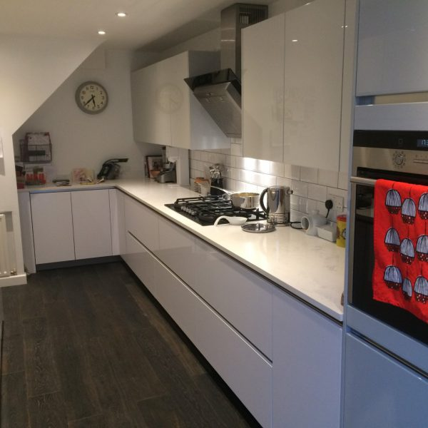 german made kitchen cabinets farm house sink high gloss handleless in ware | blax kitchens ltd
