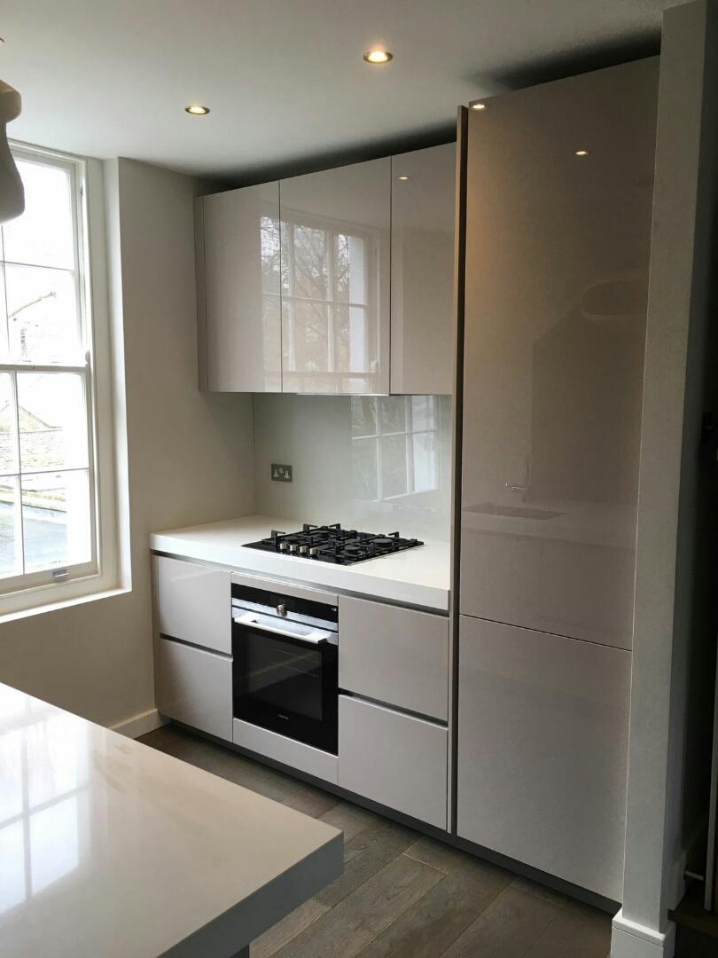 kitchen showrooms floor mat gloss cashmere - islington | blax kitchens ltd