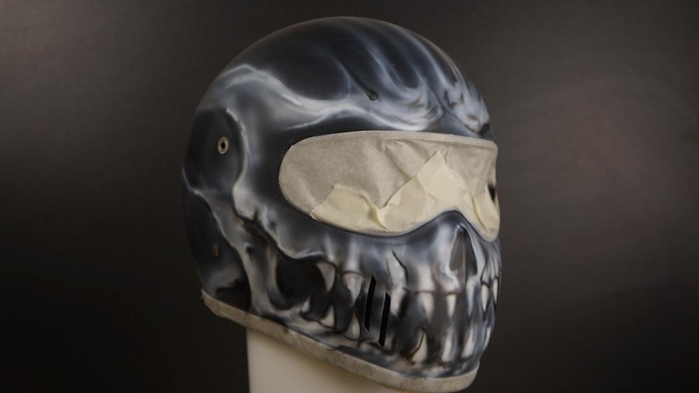 Yet Another custom motorcycle helmet , Custom painted in ...