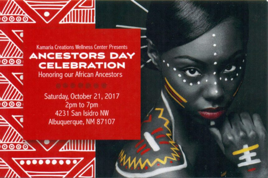 Ancestors Day Celebration Poster (Front)