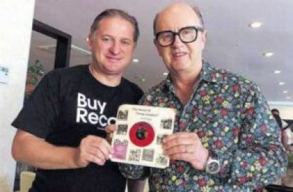 British music insider Matt Downs (left) with veteran broadcaster David Rodigan.