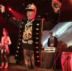 Lee Scratch Perry performing at the Dub Club in Los Angeles.
