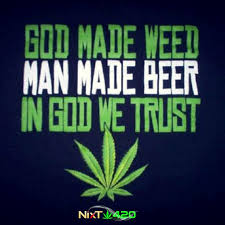 God Made Weed Sticker