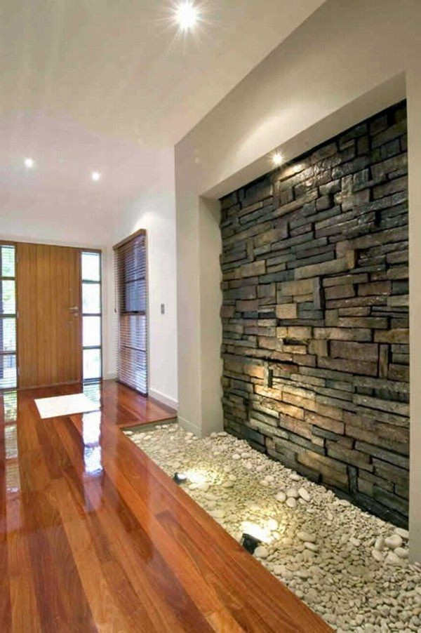 Modern Interior Room Design Model with Natural Stone  Home Interior Design Ideas