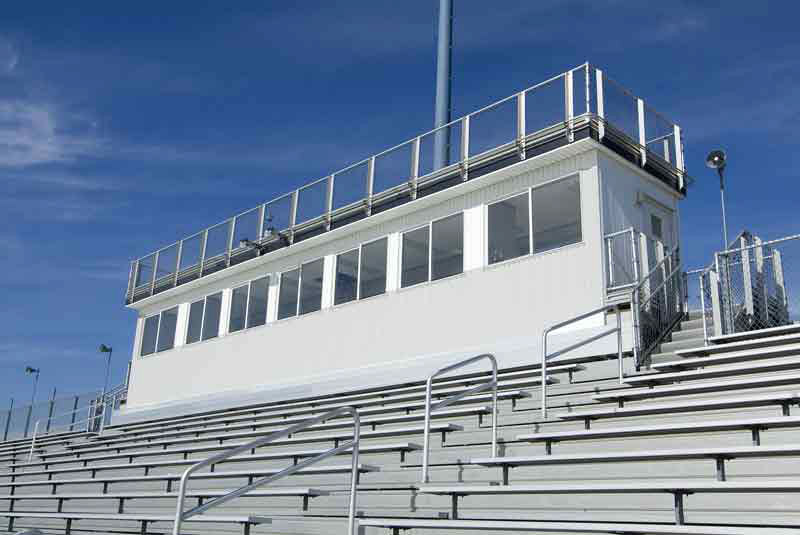 Customized Press Boxes for Stadiums  National Recreation Systems