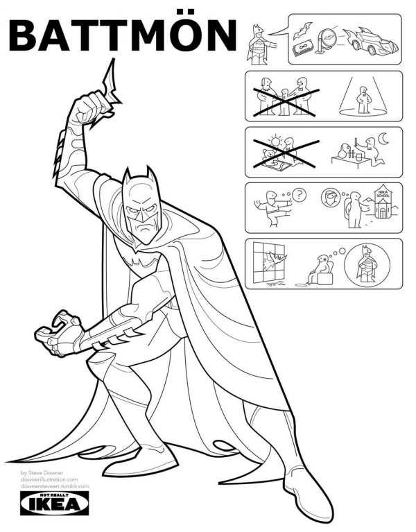 If IKEA Did Superheroes... Origins As Instruction Manuels