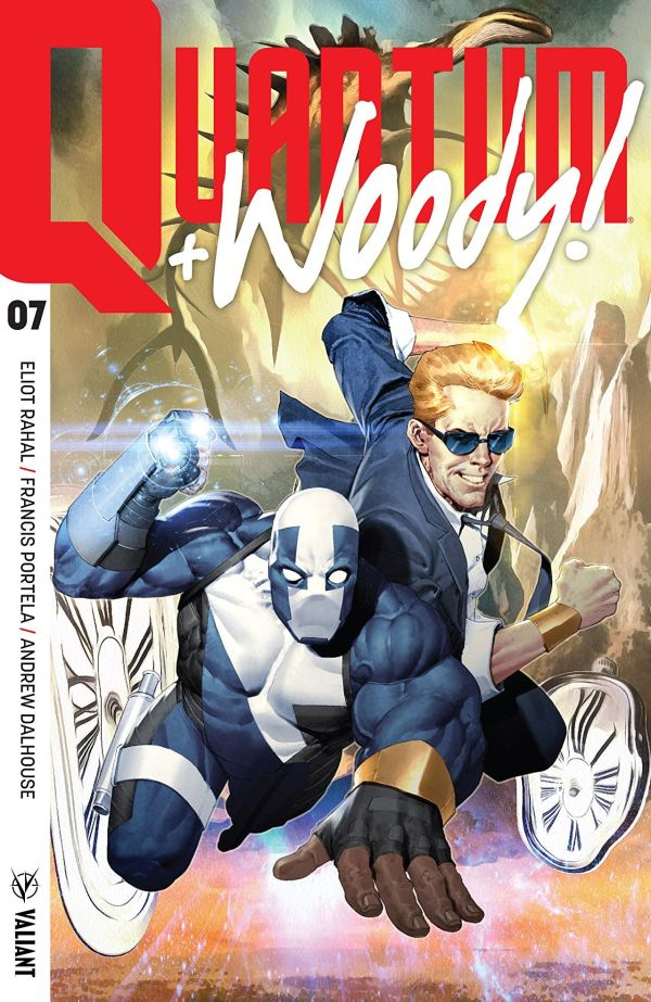 Quantum and Woody #7 cover by Ariel Olivetti