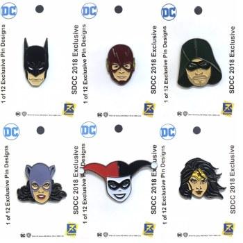 SDCC DC Comics Pins FanSets 1
