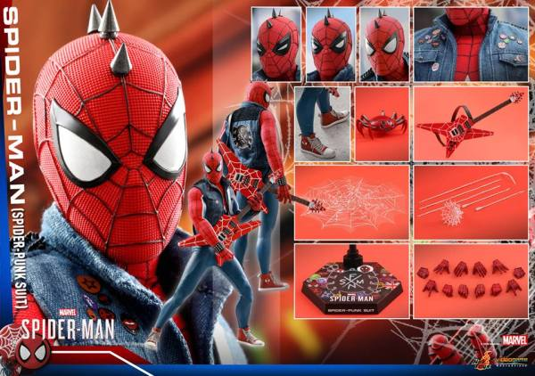 Hot Toys Spider Man Spider Punk Figure 21