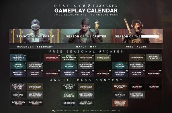 Destiny 2 calendar