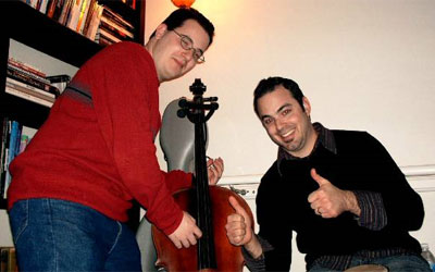 Thumbs up your cello!