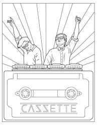 Cazzette coloring page