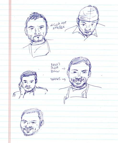 David Chang sketches