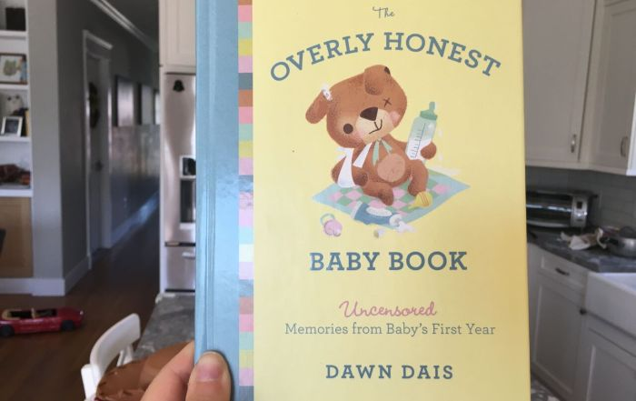 the overly honest baby book by dawn dais