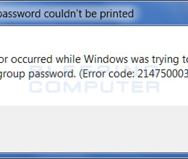 This Error Is Displayed When Internet Explorer Is Not Your Default Web Browser To Fix This Error And Allow You To Print Your Homegroup Password