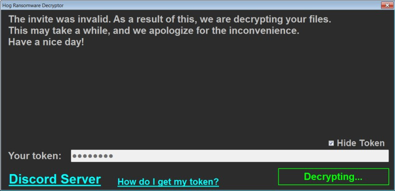 Ransomware decrypting for free