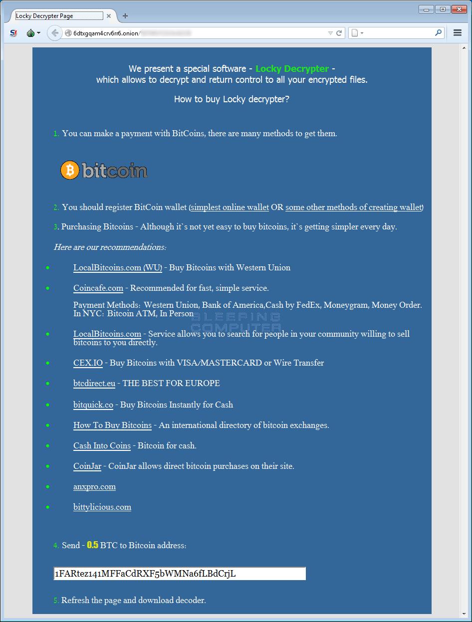 Locky Decrypter Page