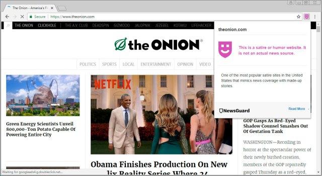 Considerado un sitio de noticias de sátira