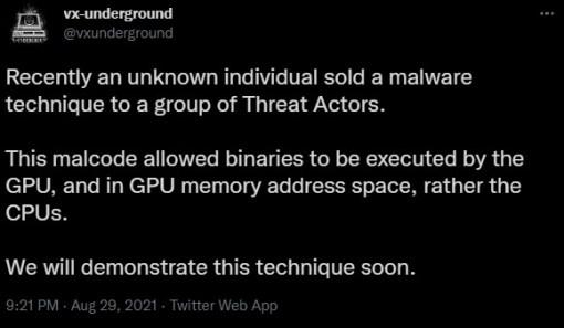 GPU-run malware
