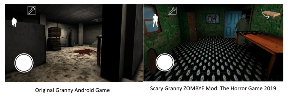 Vovó vs avó assustadora ZOMBYE modificação