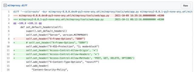 'mitmproxy2' had API safeguards removed
