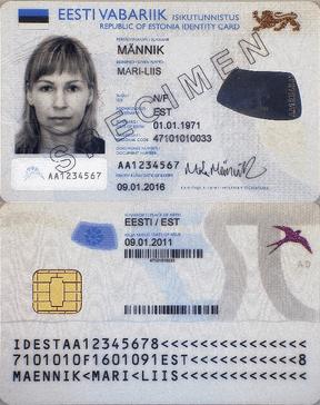 Tarjeta de identificación electrónica nacional de Estonia