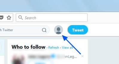 Open Twitter Use Menu