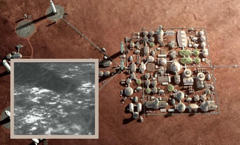 Satelitní snímky ukazují základy lidské civilizace na povrchu Marsu?