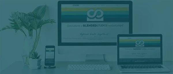 Blended Studios webdesign