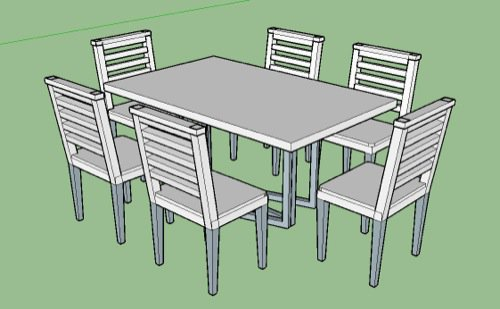 chair design sketchup bar stool tops importing furniture models from to blender 3d i have this simple dining table model in