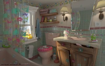 Retro Kids Bathroom