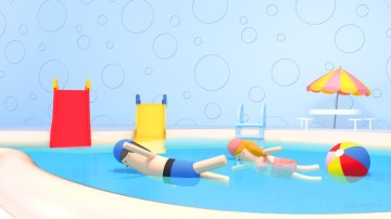tzu-yu-kao-at-swimming-pool-for-kids