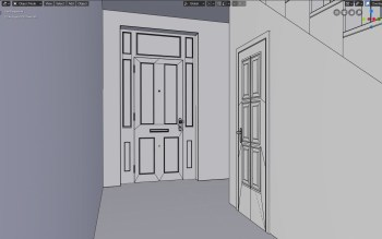 Doors made with the help of Archipack addon (and tweaked).