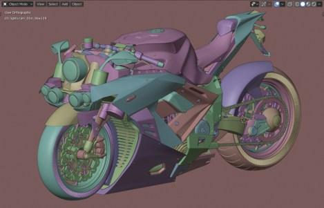 Imported model in Blender