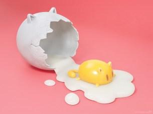 metin-seven_stylized-artistic-3d-illustrator_egg-cat-cute-kawaii-character-design