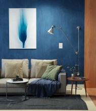bluish interior