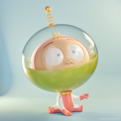 metin-seven_3d-print-modeler-toy-character-designer_cartoon-baby-astronaut-puke-vomit