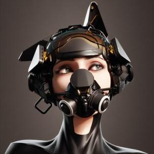 Pilot Helmet_ Dog Head